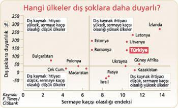 Türkiye dış şoklara açık ülkeler arasında