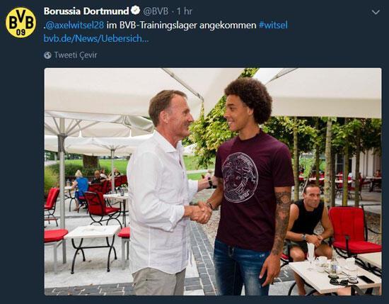 Dortmund, Witsel ile anlaştı
