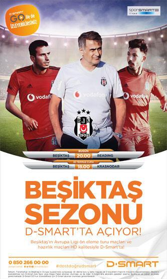Beşiktaş sezonu D-Smart'ta açıyor