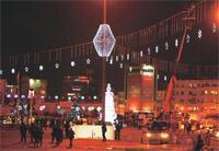 Taksim Meydanı'na rezalet bir süsleme daha