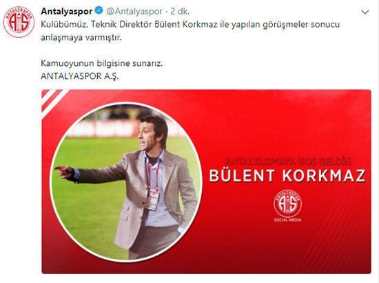 Bülent Korkmaz resmen Antalyasporda