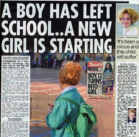 9 yaşında transeksüel oldu