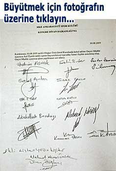 Ankaragücünde delege kavgasında şok belge