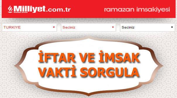 İftar saat kaçta İstanbul iftar saati, İzmir iftar saati, Ankara iftar saati