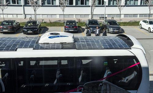 Türkiyenin ilk güneş otobüsü yollara çıktı