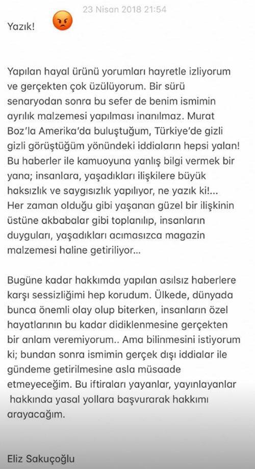 Eliz Sakuçoğlu o iddialara ateş püskürdü