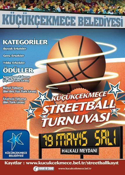 Küçükçekmecede Streetball Turnuvası heyecanı başladı