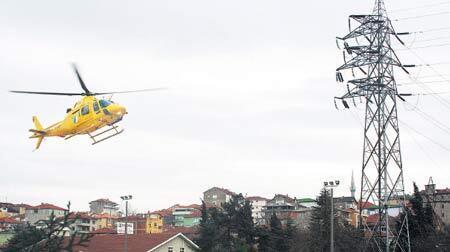 Kesintilere karşı helikopterle müdahale