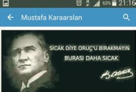 Milli Eğitim Müdürünün Atatürklü Ramazan paylaşımı büyük tepki çekti