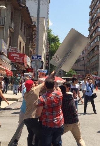 Ankarada otopark protestosunda silahlı saldırı