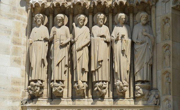 Parisin sıfır noktası Notre Dame Katedrali