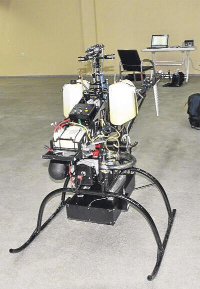Göçüğe insansız helikopter