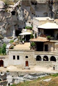 Kapadokyada kalıntılardan yaratılan bir ev...