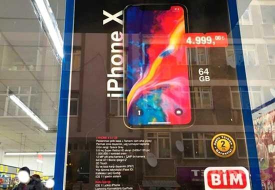BİM bu sefer de iPhone X satacak Peki iPhone X, BİMde ne kadara satılacak