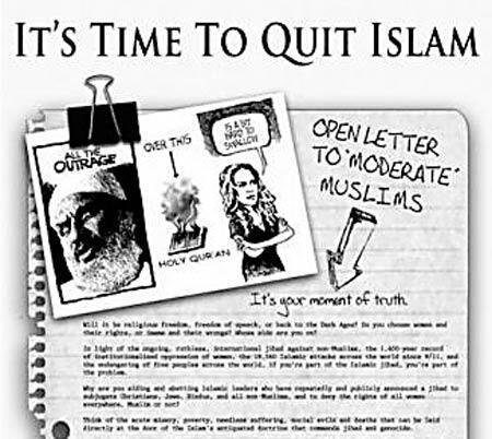 'İslam düşmanı ilanı neden yayımlamadın'