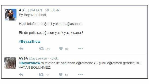 Ayşe Öğretmen Diyarbakırdan Beyaz Showa bağlandı, Stüdyo buz kesti