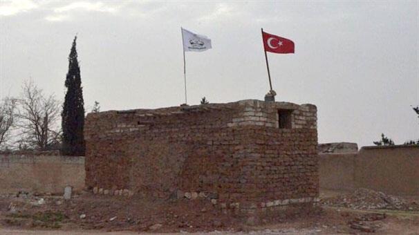 Münbiçte bayrak savaşı ABD, Rusya ve Türk bayrakları...