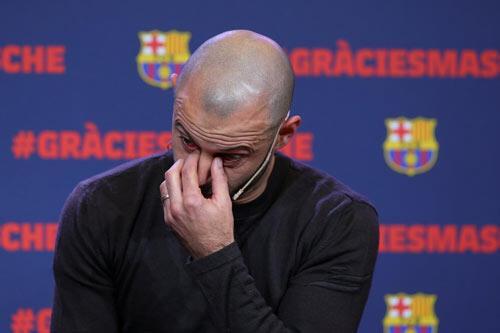 Mascherano, Barcelonaya veda etti