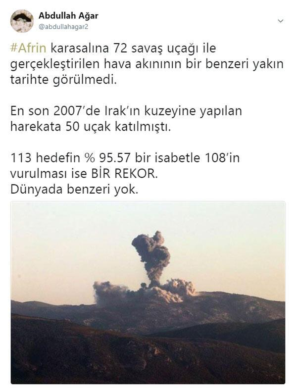 Zeytin Dalı için neden 72 uçak havalandı İşte o 72nin sırrı...