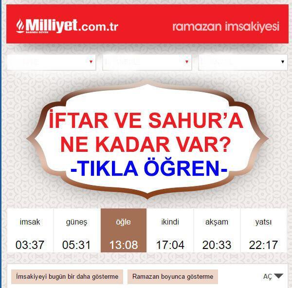 İzmir iftar vakti saat kaçta (İzmir Ramazan İmsakiyesi 2017)