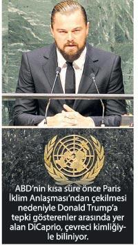 DiCaprio'dan orman mesajı