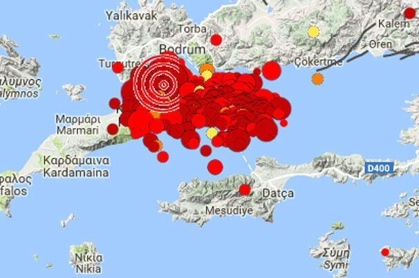 Ege yine sallandı Datçada 5 büyüklüğünde deprem