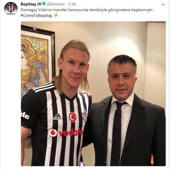 Beşiktaş, Vidayı KAPa bildirdi