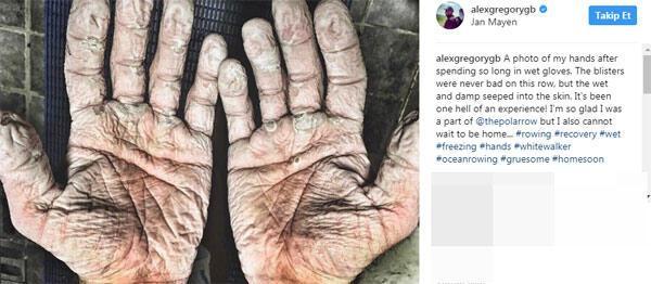 Alex Gregory'nin elleri şaşkına çevirdi