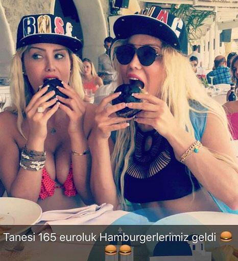 Cicişler'in 165 Euroluk hamburger keyfi