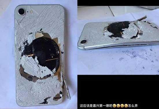 Şarja takılı iPhone 8 patlamış halde bulundu