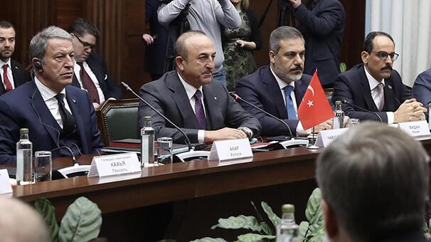 Son dakika... Kritik toplantı sona erdi Bakan Çavuşoğlundan ilk açıklama