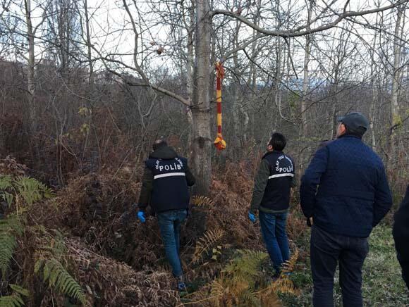 Önce aradı haber verdi sonrası korkunç Polis ormanlık alana geldiğinde...