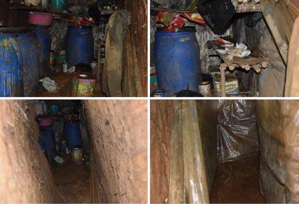 Banyolu, tuvaletli, 6 odalı sığınak bulundu