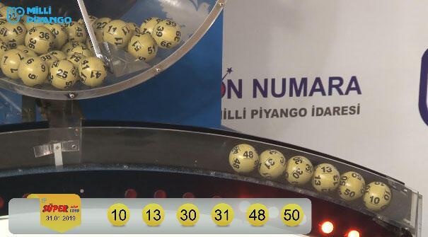 Süper Loto çekiliş sonuçları açıklandı (31 Ocak Süper Loto sonuç sorgulama ekranı)