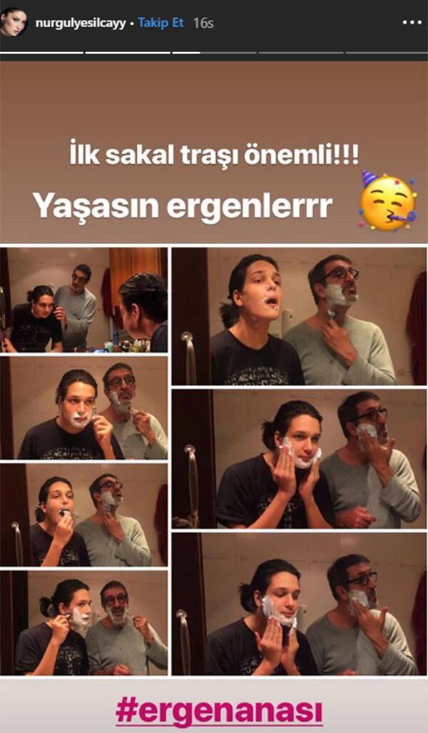 Nurgül Yeşilçay'dan sakal tıraşı paylaşımı