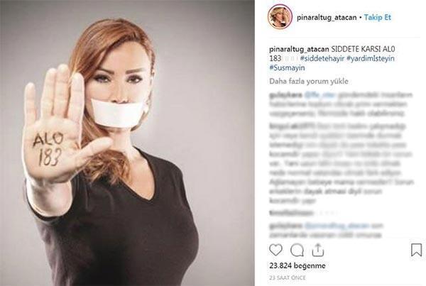 Pınar Altuğa takipçilerinden tepki