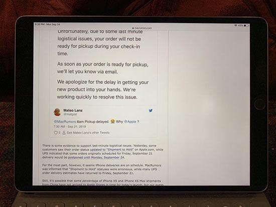 Bazı iPad Proların ekranında hata ortaya çıktı
