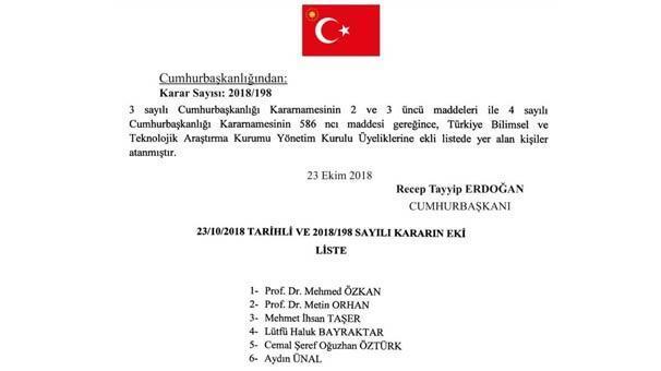 Erdoğan atamayı yaptı TÜBİTAK'ta yeni dönem