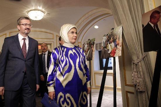 Emine Erdoğandan ABDde insani yardım vurgusu