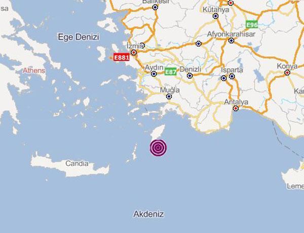 Son dakika... Korkutan deprem Ege ve Akdenizde paniğe neden oldu