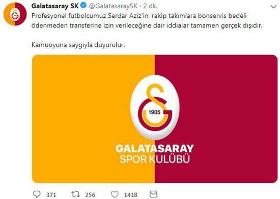 Galatasarayda Serdar Aziz bilmecesi