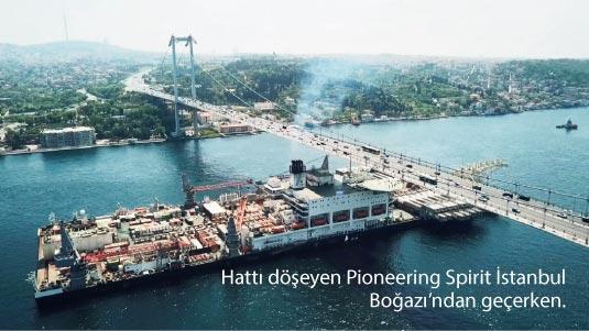 Deniz altında dev doğal gaz köprüsü
