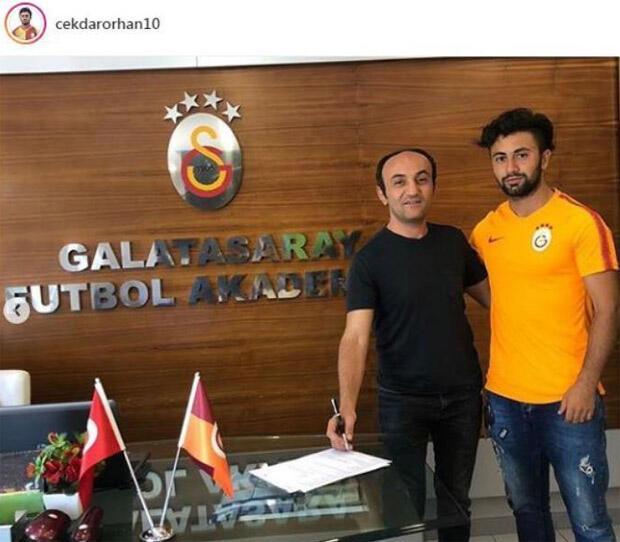 G.Saray, Çekdar Orhan ile 3 yıllık sözleşme imzaladı