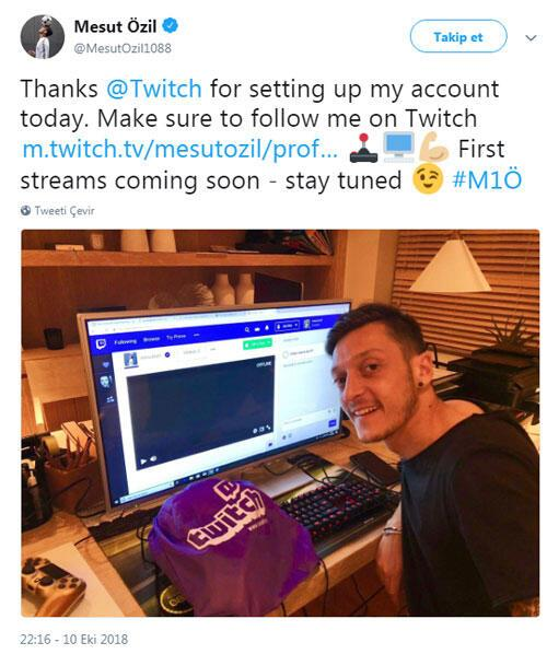 Mesut Özil Twitchte yayınlara başlıyor...