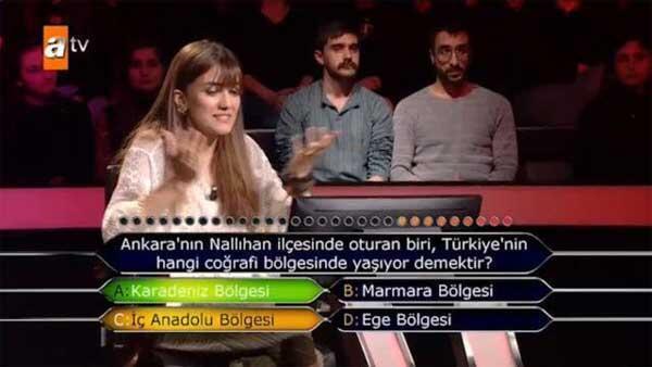 Kim Milyoner Olmak İstere damga vuran Ankara sorusu