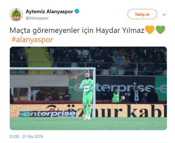 Alanyaspordan Fenerbahçeye kaleci göndermesi