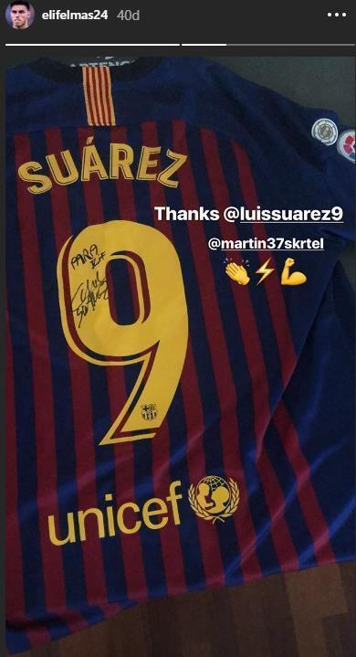 Elif Elmastan Luis Suarez paylaşımı