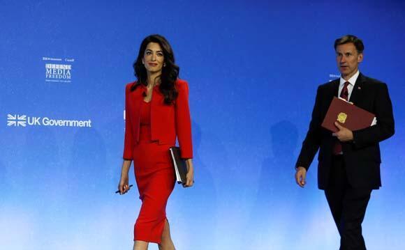 Amal Clooneyden dünya liderlerine tepki: Kaşıkçı parçalara ayrıldığında...