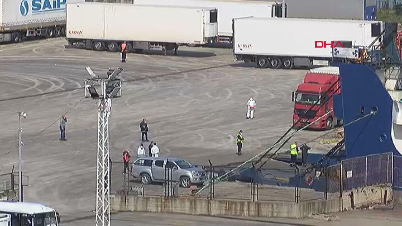 Ukrayna'dan Ro Ro geldi. 51 sürücü karantinaya alındı ile ilgili görsel sonucu