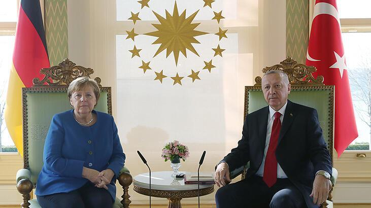 Son dakika I Cumhurbaşkanı Erdoğan, Merkel ile görüştü